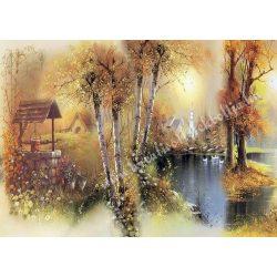 Rizspapír, őszi táj