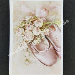 Rizspapír, rózsák balettcipővel