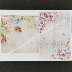 Rizspapír, rózsák pillangókkal
