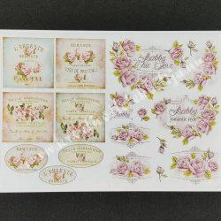 Rizspapír, rózsás Provence képek