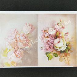 Rizspapír, rózsás vintage képek
