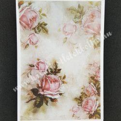 Rizspapír, rózsaszirmok