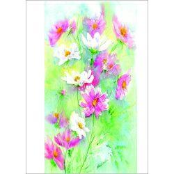 Rizspapír pasztell pillangóvirágok A4