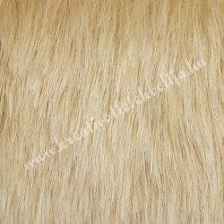 Rövid szőrű műszőr, világosbézs, kb. 10x150 cm