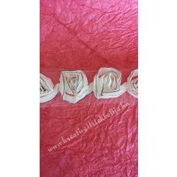 Rózsás szalag, barack színű, 6cm