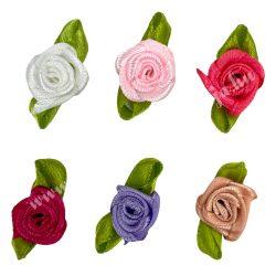 Selyemszatén rózsa zölddel