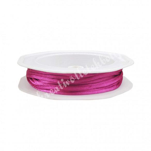 Szatén zsinór, pink, 2 mm