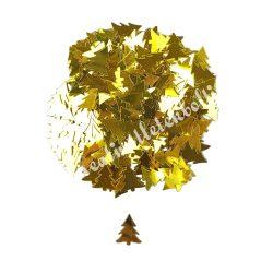 Karácsonyi flitter, arany fenyő, kb. 15 gr/csomag