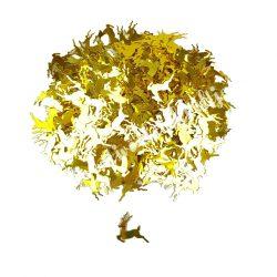 Karácsonyi flitter, arany szarvas, kb. 15 gr/csomag