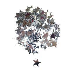 Karácsonyi flitter, ezüst csillag, kb. 15 gr/csomag