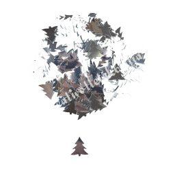 Karácsonyi flitter, ezüst fenyő, kb. 15 gr/csomag