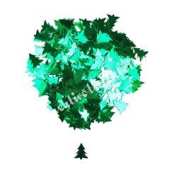 Karácsonyi flitter, zöld fenyő, kb. 15 gr/csomag
