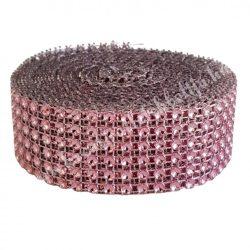 Strasszos szalag, világos rózsaszín (186) 3 cm