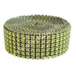 Strasszos szalag zöld (048) 3 cm