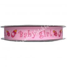 Babaváró szalag, rózsaszín, 16 mm-es, ripsz, 1 méter