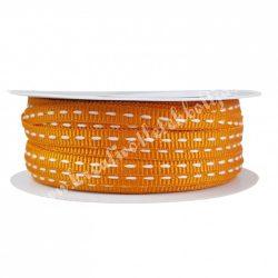 Szalag, hímzett 2., narancssárga, 5 mm
