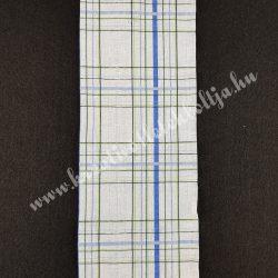 Szalag, kockás 6., kék-zöld-fehér, 100 mm