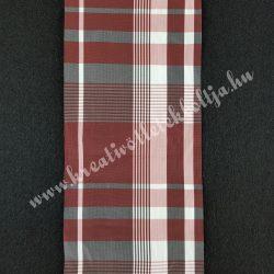 Szalag, kockás 7.,bordó-szürke-mályva-fehér, 100 mm