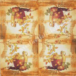 Szalvéta , Ősz 27. , 33x33 ,1 darab