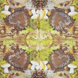 Szalvéta , Ősz 4. , 33x33 cm ,1 darab