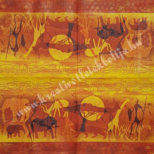 Szalvéta, országok, Afrika, 33x33 cm (29)