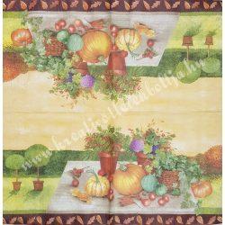 Szalvéta , Ősz, 25x25 cm (14)