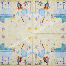 Szalvéta, babaváró, 32x32 cm, 1 darab
