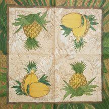 Szalvéta, déli gyümölcsök, ananász, 32x32 cm, 1 darab