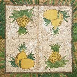 Szalvéta, déligyümölcs, ananász, 32x32 cm, 1 darab