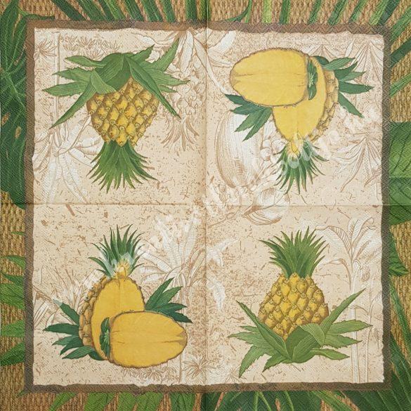 Szalvéta, déligyümölcs, ananász, 33x33 cm (10)
