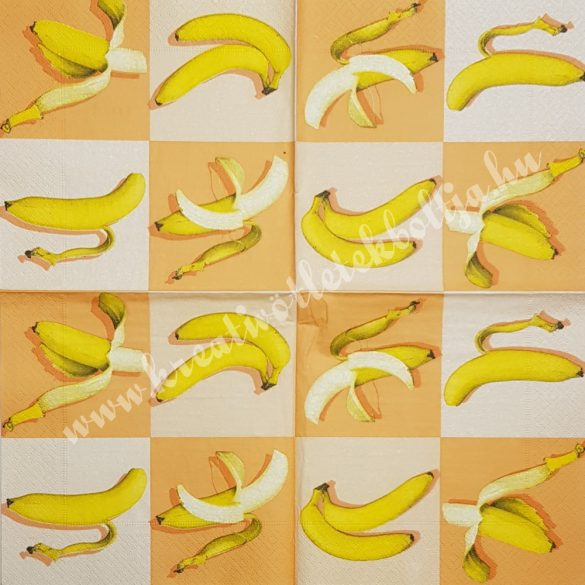 Szalvéta, déligyümölcs, banán, 33x33 cm (9)