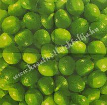 Szalvéta, déli gyümölcsök, lime, 32x32 cm, 1 darab