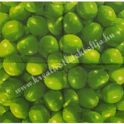 Szalvéta, déligyümölcs, lime, 33x33 cm (3)
