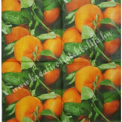 Szalvéta, déligyümölcs, narancs, 32x32 cm, 1 darab