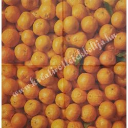 Szalvéta, déli gyümölcsök, narancs, 33x33 cm (5)