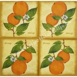 Szalvéta, déligyümölcs, narancs, 33x33 cm (7)