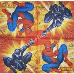 Szalvéta, Disney-mintás 1.,Pókember, 33x33 cm