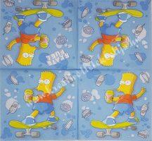 Szalvéta, Simpson család, 32x32 cm, 1 darab