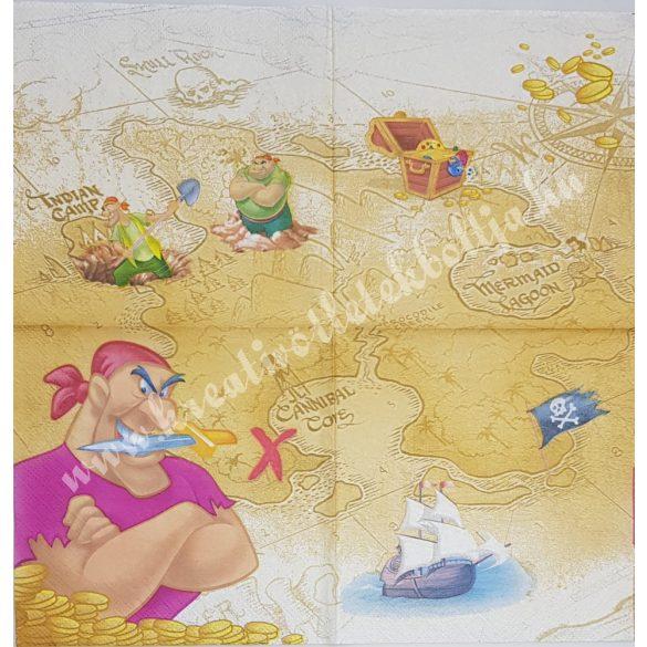 Szalvéta, Disney-mintás, kalózos, 33x33 cm (13)