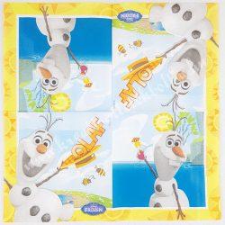 Szalvéta, Disney-mintás 14.. Olaf, 33x33 cm