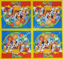 Szalvéta, Disney-mintás, szülinap, 32x32 cm, 1 darab