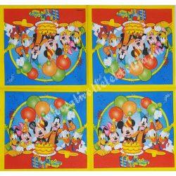 Szalvéta, Disney-mintás 19., szülinap, 33x33 cm