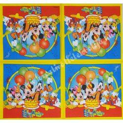 Szalvéta, Disney-mintás, szülinap, 33x33 cm (19)