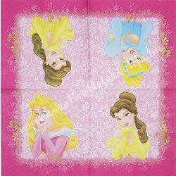 Szalvéta, Disney-mintás 25., hercegnős, 33x33 cm