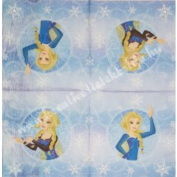 Szalvéta, Disney-mintás, Hókirálynő, 33x33 cm (26)