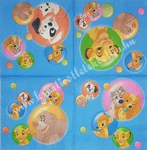 Szalvéta, Disney-mintás, 32x32 cm, 1 darab