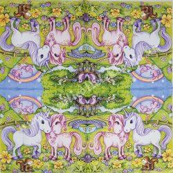 Szalvéta, Disney-mintás, unikornis pár, 33x33 cm (32)