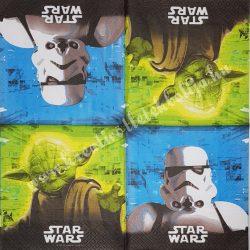 Szalvéta, Disney-mintás, Star Wars, 33x33 cm (37)
