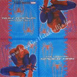 Szalvéta, Disney-mintás, Spiderman pókokkal, 33x33 cm (38)