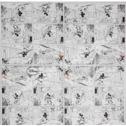 Szalvéta, Disney-mintás 39., Képregény Mickey Egérrel, 33x33 cm